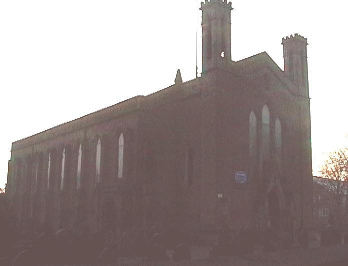 Picture of church; Actual size=130 pixels wide