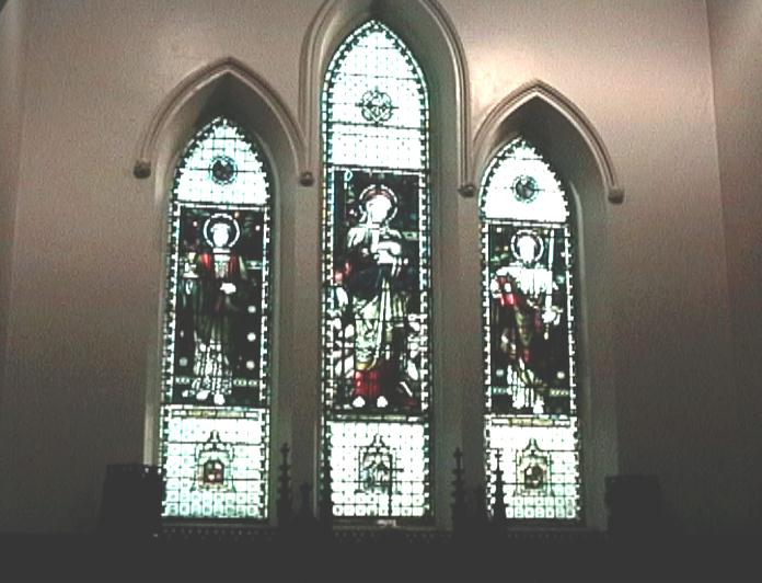 Stained glass window; Actual size=130 pixels wide